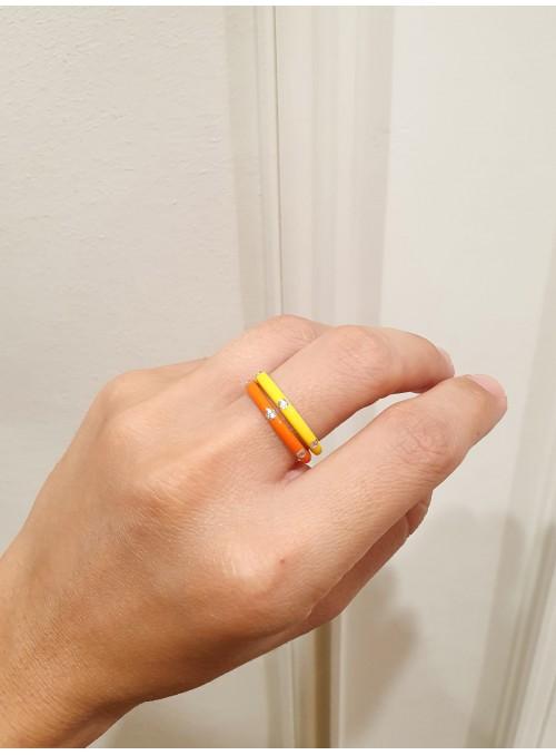 Anell Petit ENAMEL Orange