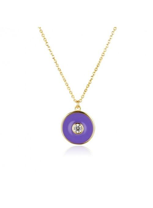 Collaret ENAMEL Purple