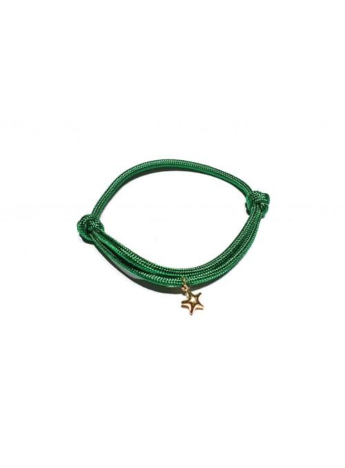 Pulsera Cord Star Green
