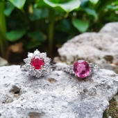 Joies per sempre ❤  Diamants, rubí i rodolita, naturals i sense tractar.  #JoieriaMoner