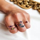 PRECIOUS by Moner 💍  Anells de pedres semi precioses i d'or rosa 18kt. Fets a mà al nostre taller. ✨  Podem personalitzar-te el color, la pedra i la mida. El que necessitis!!🙌🏻  #PreciousbyMoner #JoieriaMoner