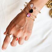Chopard HAPPY HEARTS ❤ Conjunto de pulseras rígidas y anillos de oro rosa 18kt con diamantes. @chopard   #JoieriaMoner #HappyHearts #ChopardbyMoner