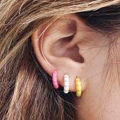 Introducing Enamel Bambú & Enamel Basics 🤍  Our concept of summer earrings 😎  #JoieriaMoner #EnamelbyMoner