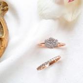 MONER 🤍 Joies per moments especials.  📸 Anells d'or rosa 18kt amb diamants naturals.   #JoieriaMoner
