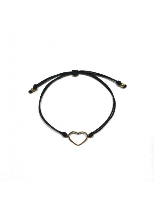 Pulsera Cord Minimal Corazón