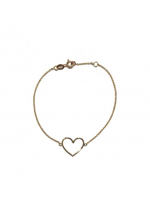 Pulsera Gold Minimal Corazón