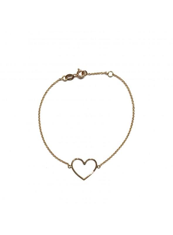 Pulsera Chain Minimal Corazón