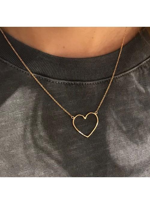 Collar Chain Minimal Corazón