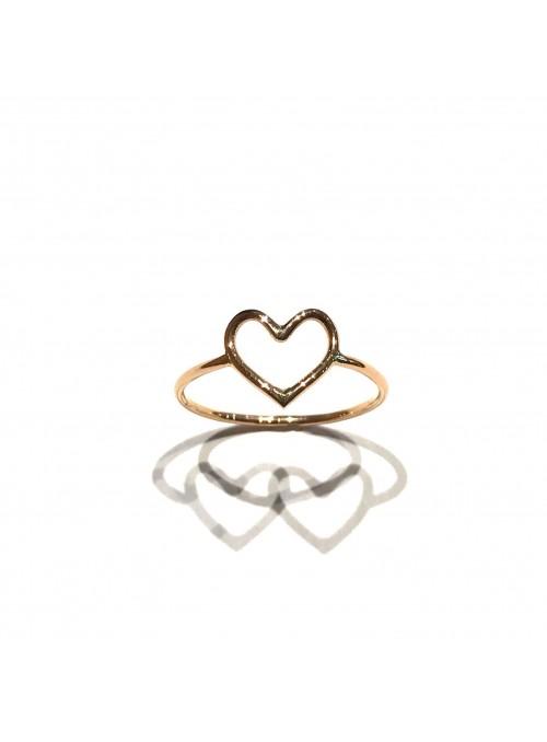 Anillo Gold Minimal Corazón
