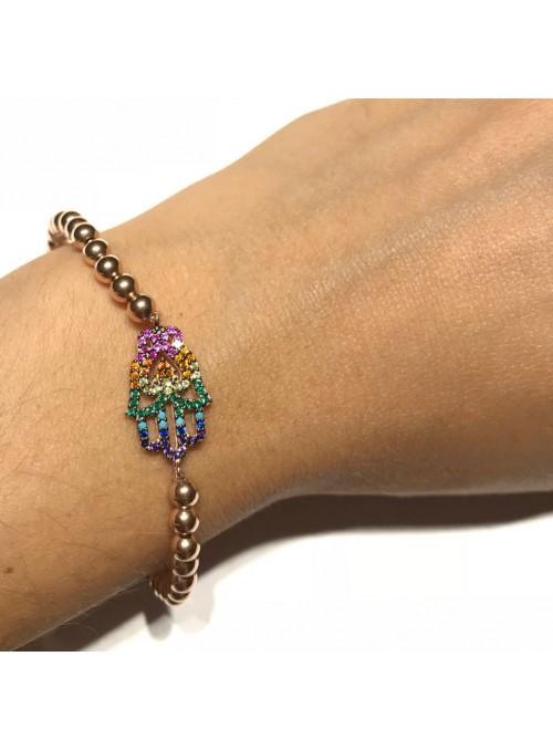 Pulsera Chain Rainbow Hand