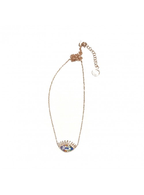 Collar Chain Rainbow Chiara Eye
