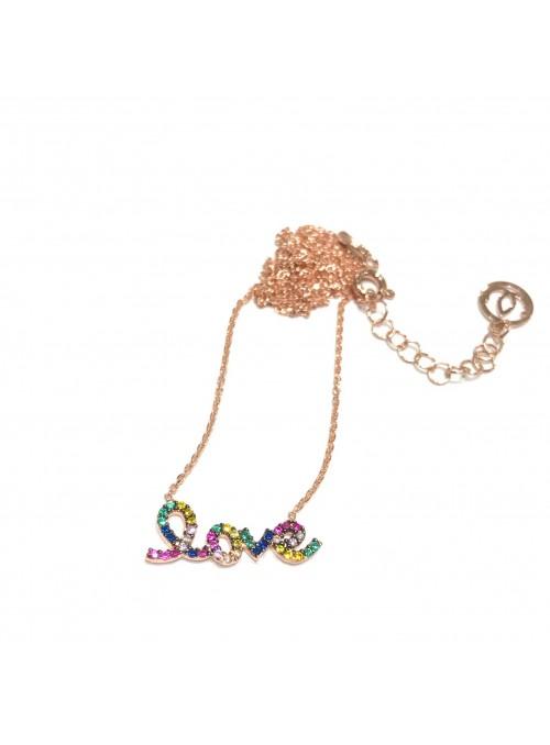 Collar Chain Rainbow Love