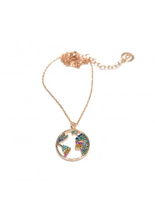 Collar Chain Rainbow World