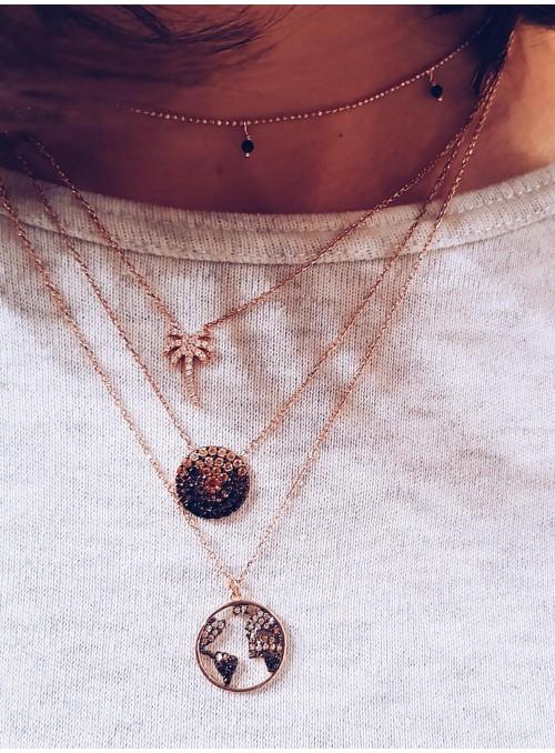 Collar Chain Champagne Palm
