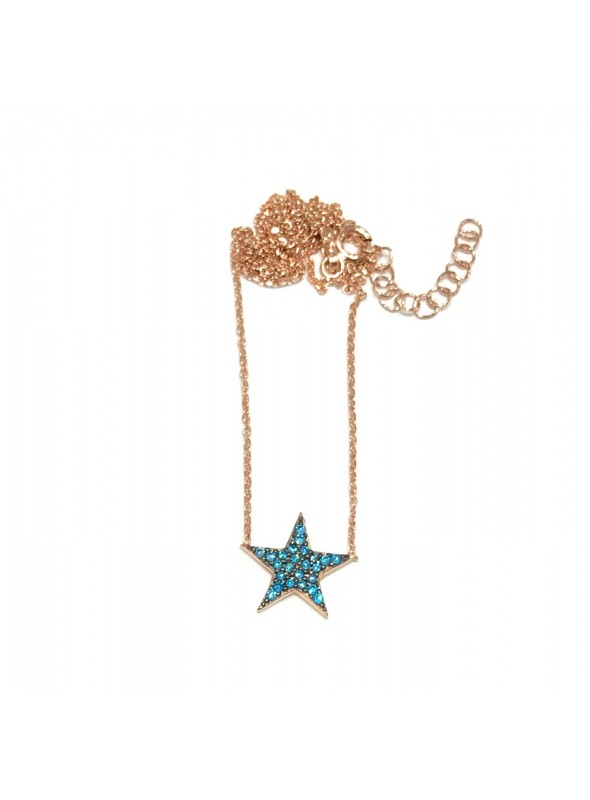 Collar Chain Star Blue