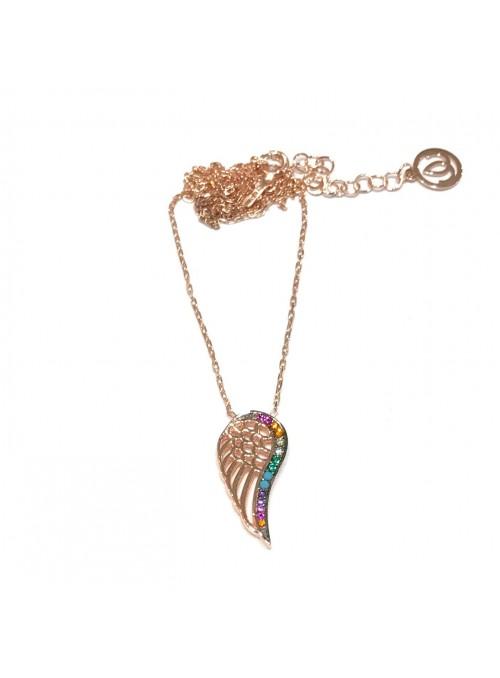 Collar Chain Rainbow Wing
