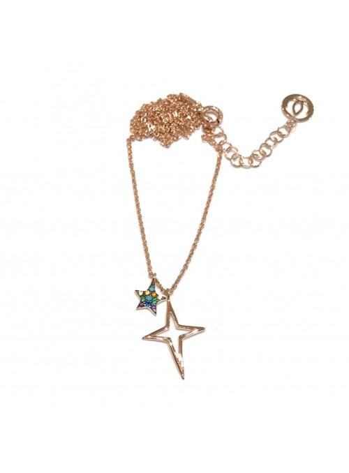 Collar Chain Rainbow Star