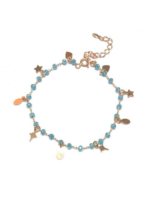 Pulsera Chain Boho Blue