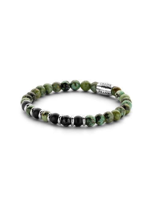 Pulsera green black