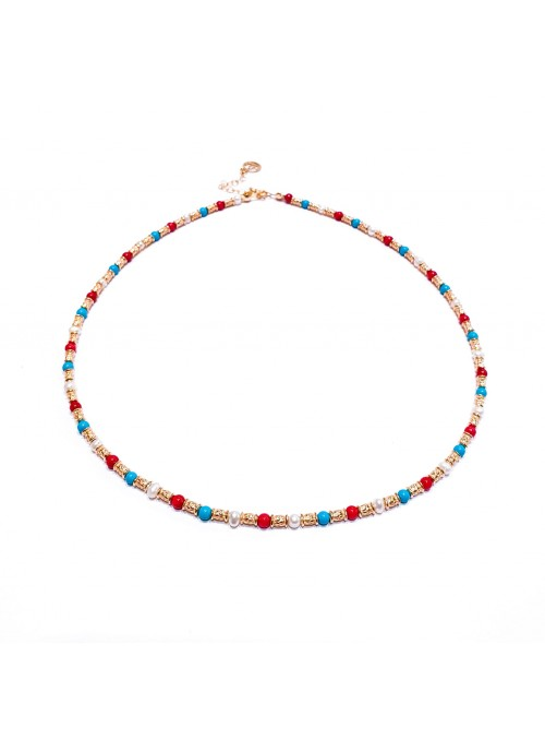 Collar PEARL TURQUOISE CORAL