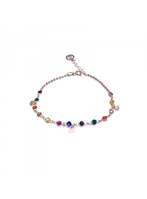 Pulsera con circonitas multi color